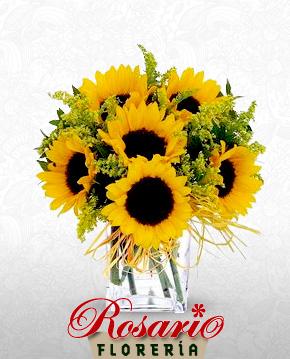 florero de girasoles